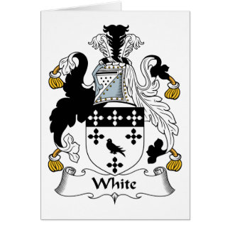White Family Crest Card