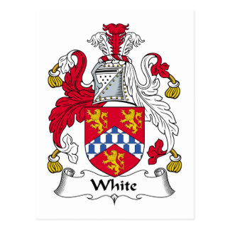 White Family Crest Post Cards