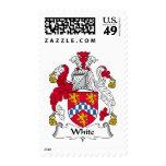 White Family Crest Postage Stamp