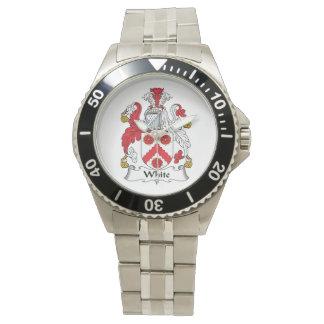 White Family Crest Wristwatches