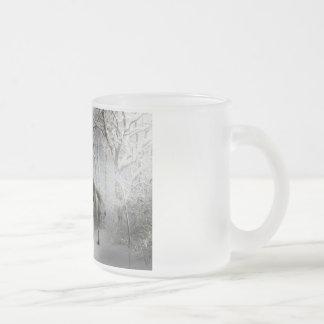 White Fantasy Horse 10 Oz Frosted Glass Coffee Mug