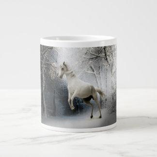White Fantasy Horse 20 Oz Large Ceramic Coffee Mug
