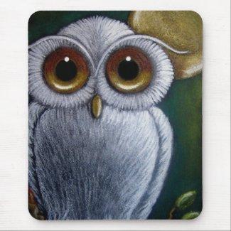 WHITE FANTASY OWL Mousepad mousepad