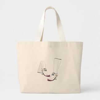 White fashion Boots Cartoon Canvas Bags