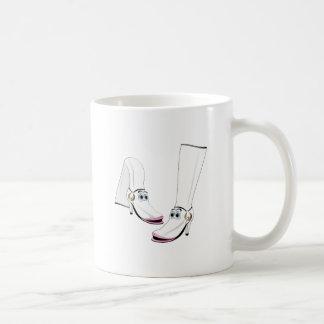 White fashion Boots Cartoon Coffee Mug