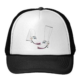 White fashion Boots Cartoon Hat