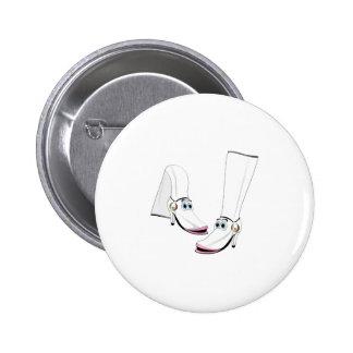 White fashion Boots Cartoon Pin