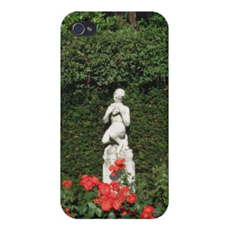 White Faun statue - Italian Garden, Compton Acres, Cases For iPhone 4