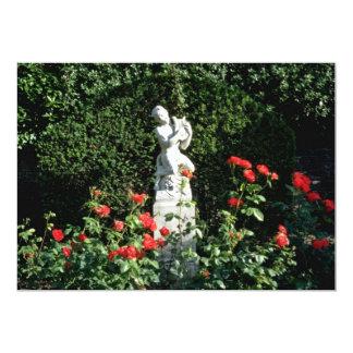 "White Faun with lyre - Italian Garden, Compton Acr 5"" X 7"" Invitation Card"