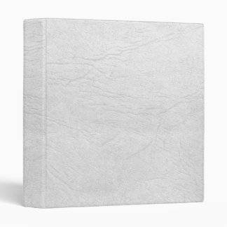 White-Faux Leather Binder/Album 3 Ring Binder
