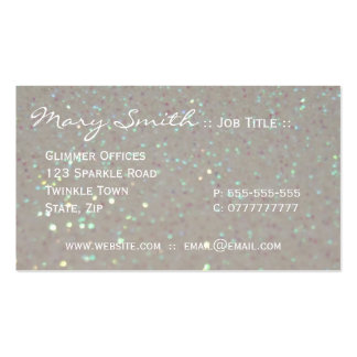 White faux Sparkles & Glitter business cards