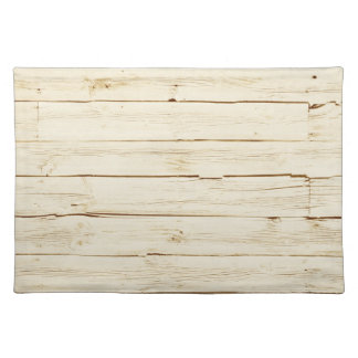 White Faux Wood Cloth Placemat