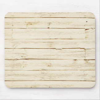 White Faux Wood Mouse Pad