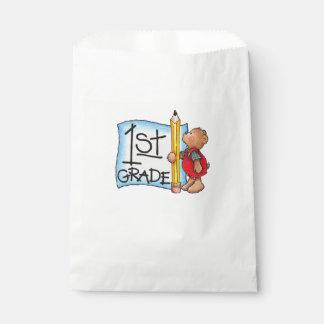 White Favor Bags/1st Grade Favor Bag