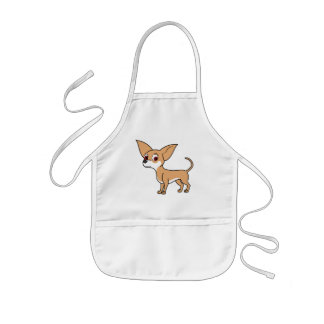 White & Fawn Chihuahua with Short Hair Kids' Apron