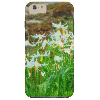 White Fawn Lily Tough iPhone 6 Plus Case