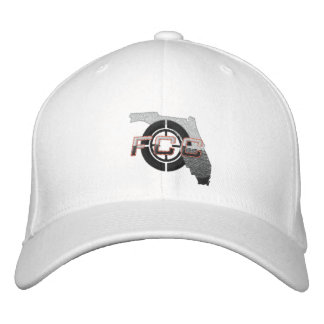 White FCC Embroidered Cap Embroidered Hat