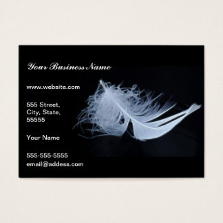White feather - angelic by nature business card