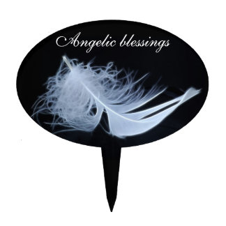 White feather - angelic by nature cake toppers
