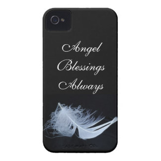 White feather - angelic by nature Case-Mate iPhone 4 cases