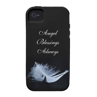 White feather - angelic by nature iPhone 4 cover