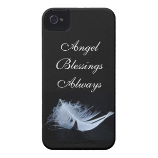 White feather - angelic by nature iPhone 4 case