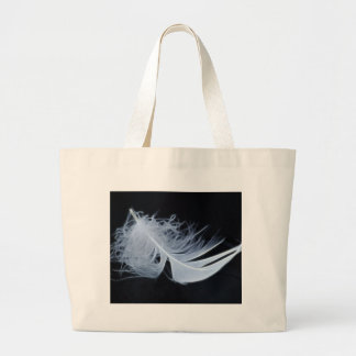 White feather - angelic by nature large tote bag