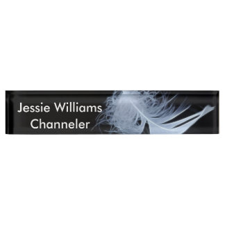 White feather - angelic by nature nameplate