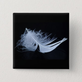 White feather - angelic by nature pinback button