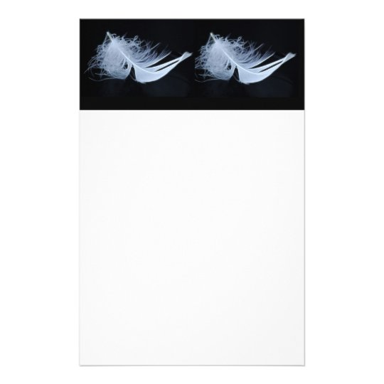 White feather - angelic by nature stationery