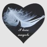 White feather - angelic by nature sticker