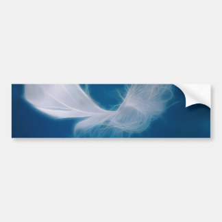 White feather art - symbol of purity and innocence bumper sticker