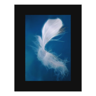 White feather art - symbol of purity and innocence flyer