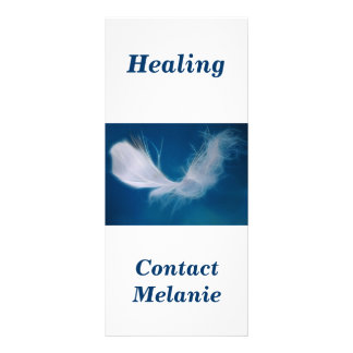 White feather art - symbol of purity and innocence rack card