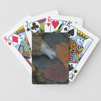 White Feather Bicycle Playing Cards