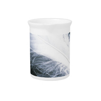 White feather pitcher