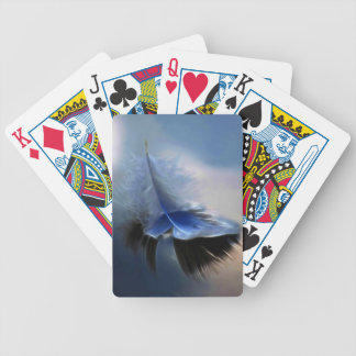 White feather sailing bicycle playing cards