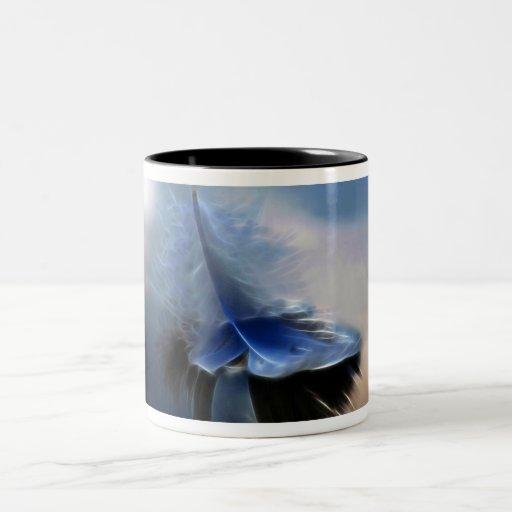White feather sailing mug