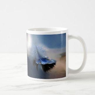 White feather sailing classic white coffee mug