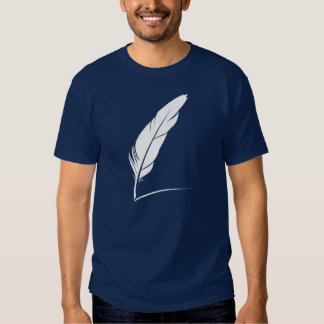 white feather t shirt