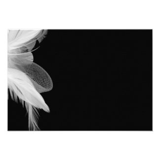 White Feathers 3.5x5 Enclosure Card 2 Personalized Announcement