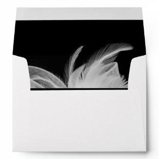 White Feathers 5x7 Invitation Envelope zazzle_envelope