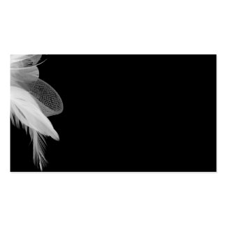 White Feathers Plain Card