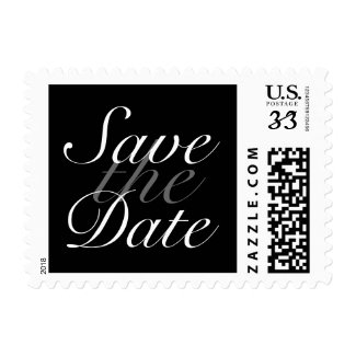 White Feathers Save the Date Stamp zazzle_stamp