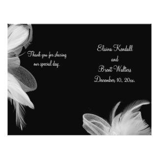 White Feathers Wedding Program Full Color Flyer