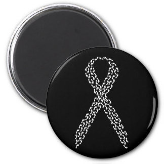 White Feet Awareness Ribbon 2 Inch Round Magnet