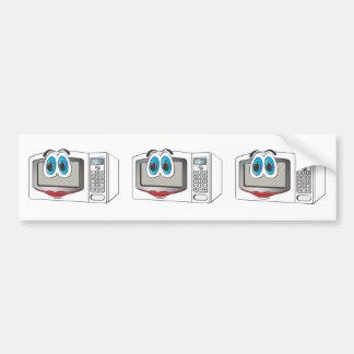 White Female Cartoon Microwave Bumper Sticker