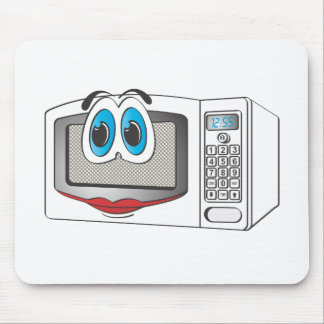 White Female Cartoon Microwave Mousepads
