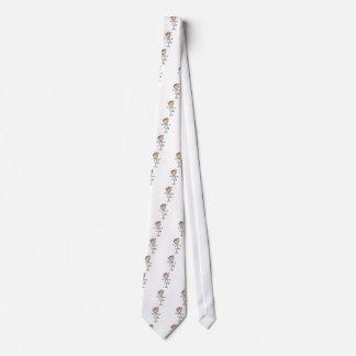 White Female Stick Figure Nurse 2 Gifts Tie