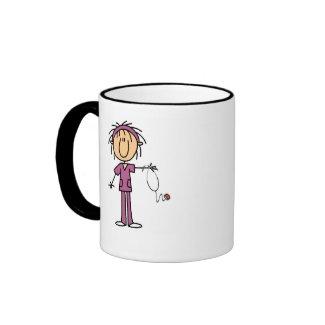 Stick Figure Nurse Custom Name Mug